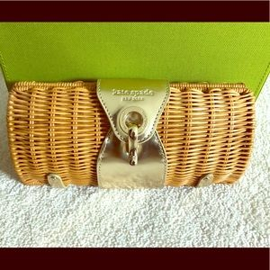 NWT Kate spade minu wicker clutch